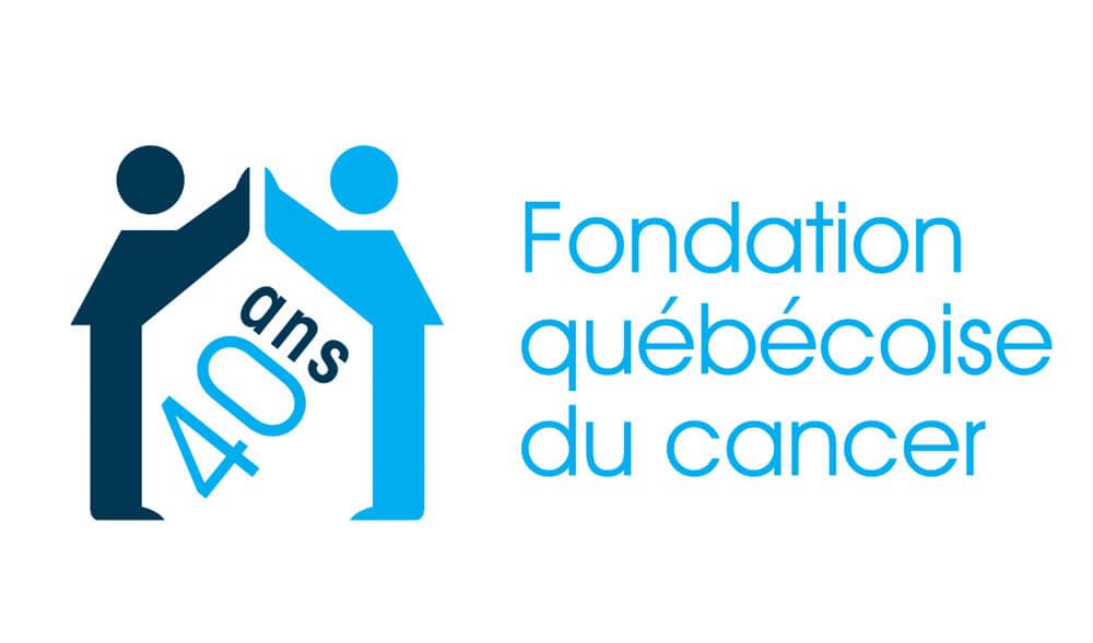 Logo de la Fondation québécoise du cancer · 40 ans