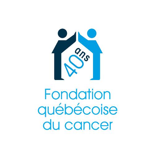 Logo de la Fondation québécoise du cancer édition 40 ans