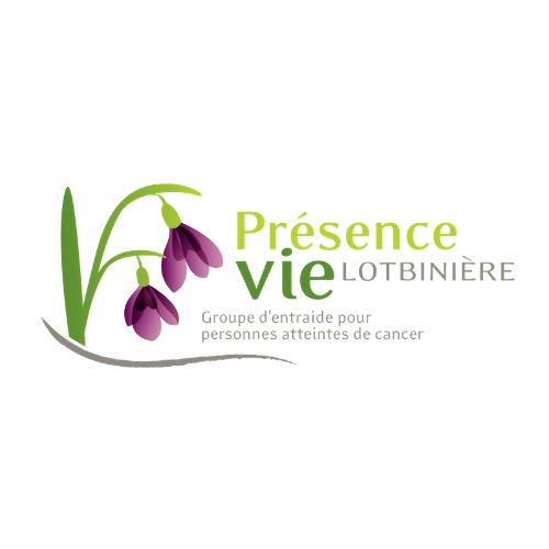 Logo de Présence Vie Lotbinière · Groupe d'entraide pour personnes atteintes de cancer